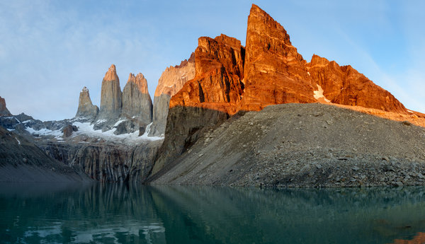 Обои torres del paine National Park, Patagonia, Chile, morning
