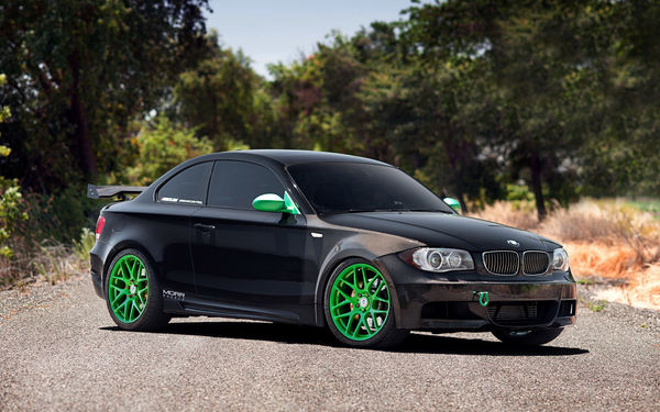 Обои бмв, стена, BMW 135i, Morr Wheels, тюнинг