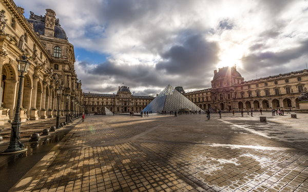 Обои paris, Louvre, france