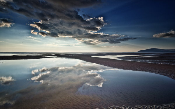 Обои Cloud, Walney Island, Reflections