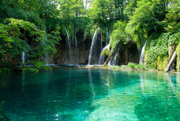 Обои природа, водоём, waterfalls in croatia, водопад