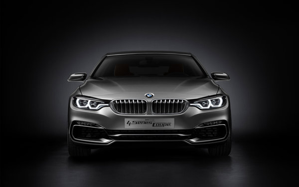Обои bmw, concept, car, front side, silver, 2013, 4 series, bmw 4 series coupe concept 2013, coupe