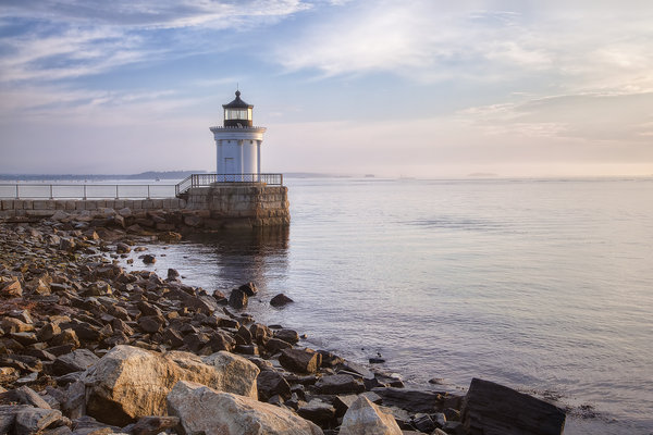Обои маяк, new england is bug light, portland breakwater lighthouse