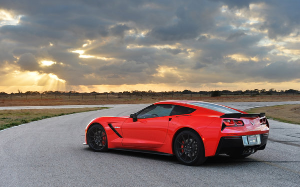 Обои chevrolet, stingray, corvette, hennessey, hpe700, twin, стингрей, turbo, шевроле