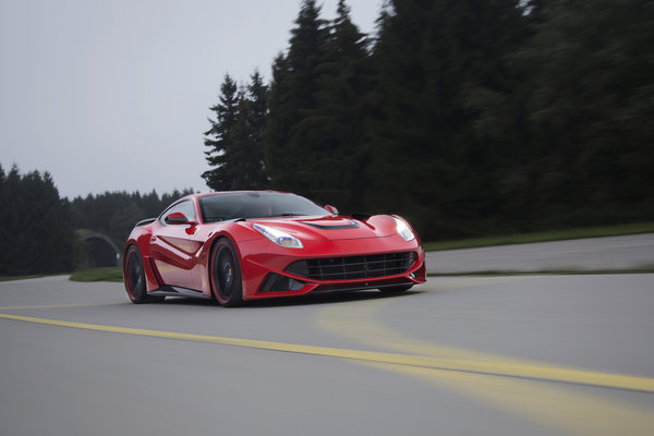 Обои дорога, berlinetta, ferrari, novitec rosso, speed, f12, road, n-largo, скорость