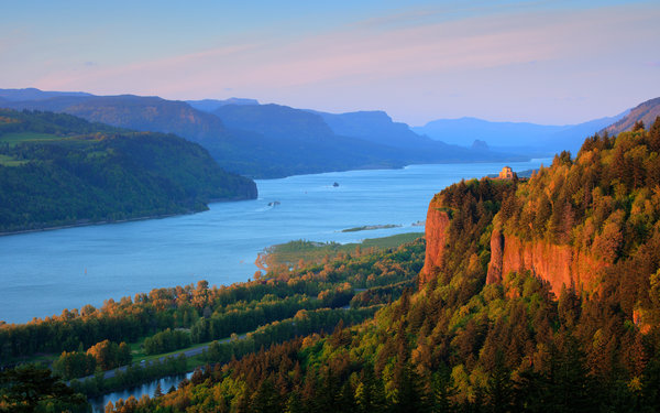 Обои oregon, columbia river, highway, columbia river gorge