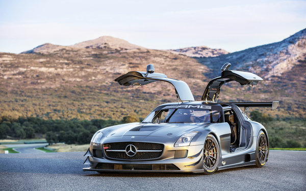 Обои car, track, cars, sls, machinery, area