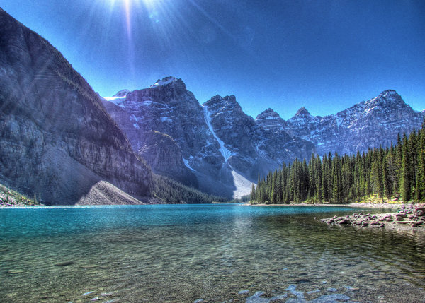 Обои горы, alberta, banff national park, canada, альберта, озеро морейн, valley of the ten peaks, озеро, канада, банф, moraine lake