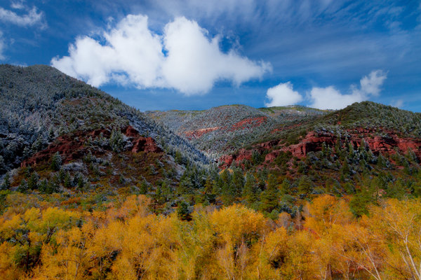 Обои colorado, outside telluride, canyons of color