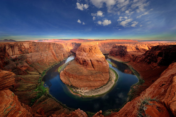 Обои usa, horseshoe bend, glen canyon, colorado river, arizona