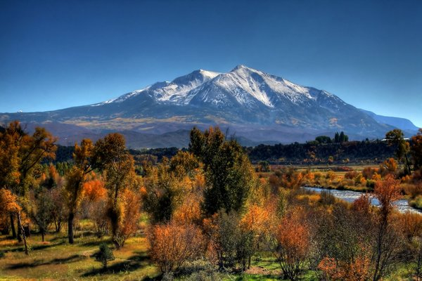 Обои usa, colorado, mount sopris redux, pitkin county