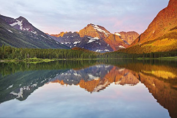 Обои glacier national park, swift current lake