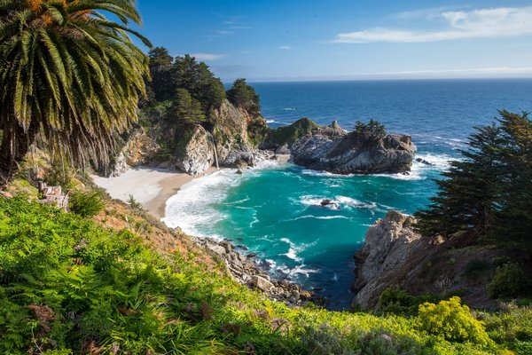 Обои california, united states, big sur, mcway falls