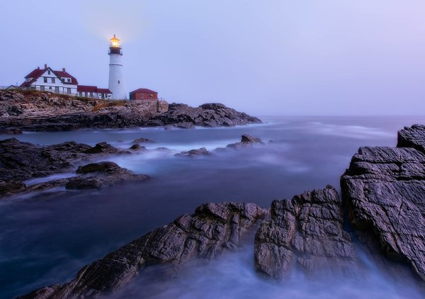 Обои Portland Head Light, маяк, Cape Elizabeth, Maine