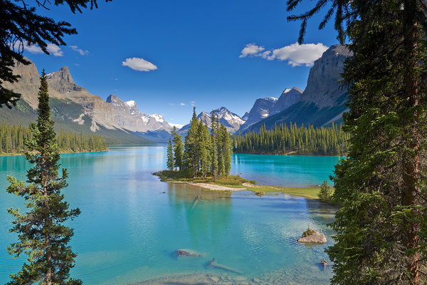 Обои Japser National Park, озеро, Maligne Lake, горы