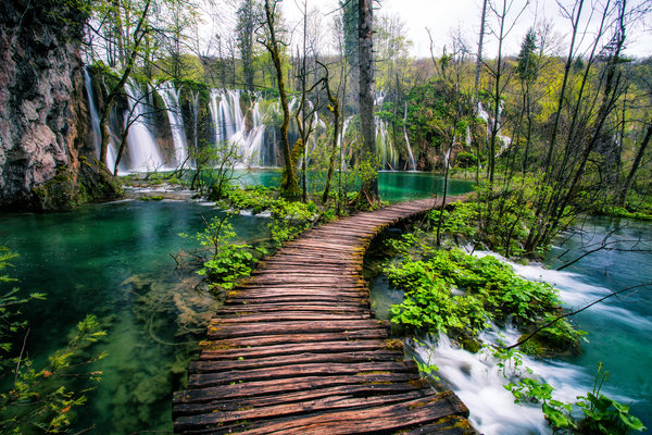 Обои Plitvice Lakes National Park, водопад, река, Croatia