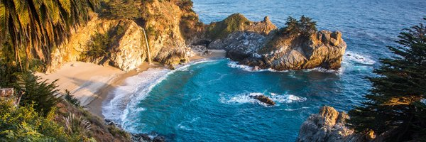 Обои McWay Falls, California, Julia Pfeiffer Burns State Park, Big Sur