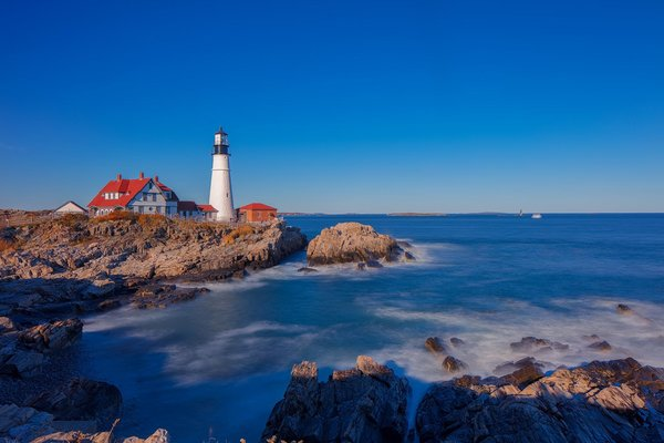 Обои Portland Head Light, Cape Elizabeth, USA, Maine
