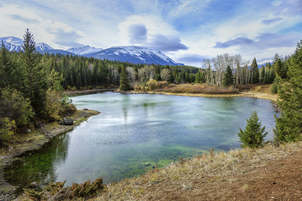 Обои The Valley of the Five Lakes, Канада, Jasper National Park