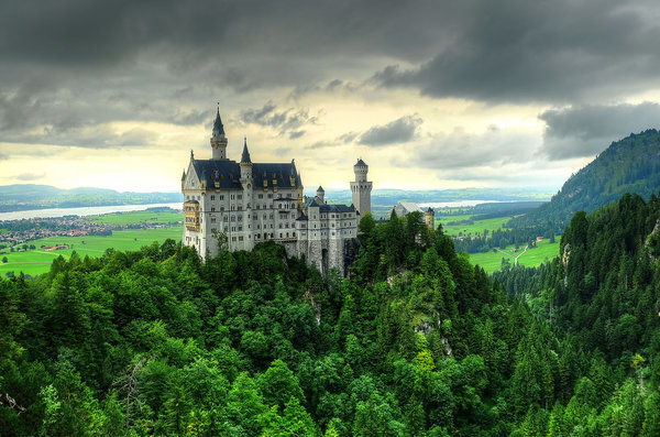 Обои Замок Нойшванштайн, Хоэншвангау, Bavaria, Neuschwanstein Castle, Germany