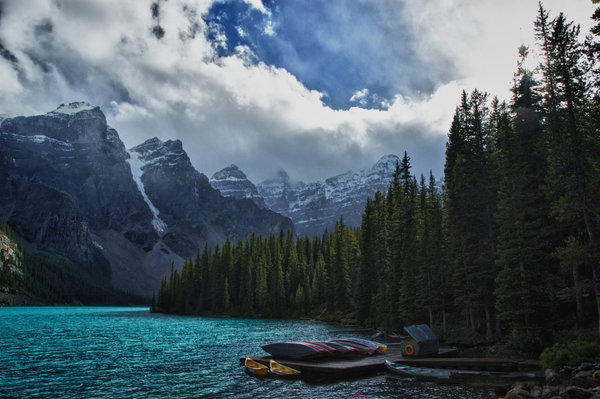 Обои Morraine Lake, Ten Peaks, Valley, Canada, Alberta
