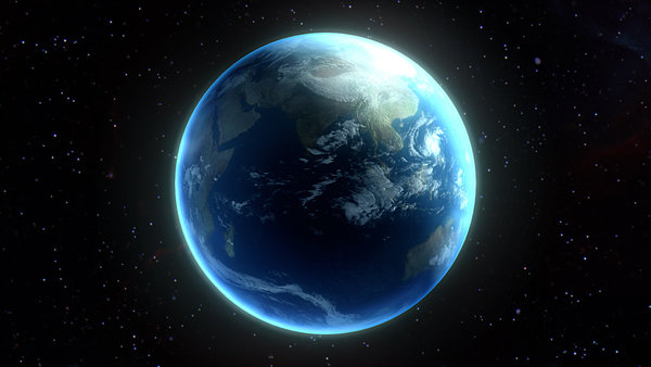 Обои planet similar to Earth, atmosphere, continents, oceans