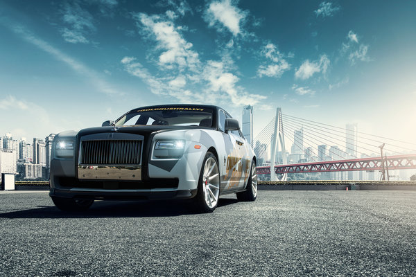 Обои Rolls Royce Ghost, мост, car