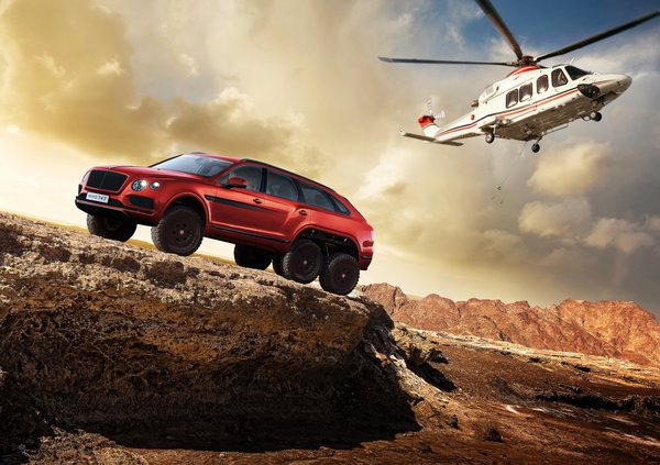 Обои Bentley Bentayga, вертолёт, Bentayga, Bentley, фотошоп