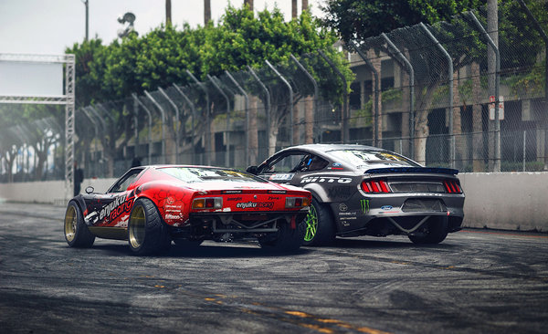 Обои Lamborghini Miura, Rear, Drift, Ford Mustang RTR, Cars, by Khyzyl Saleem