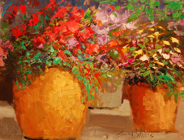 Обои Sean Wallis, арт, Potted Flowers
