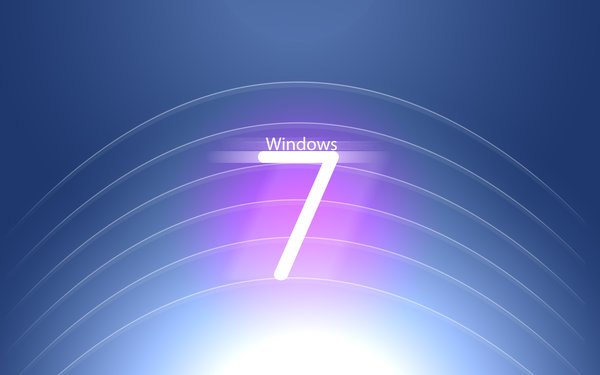 Обои windows, seven, logo