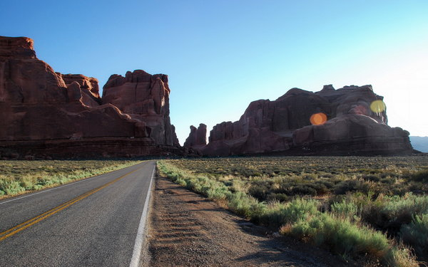 Обои Utah, Arches National Park, Break of Day