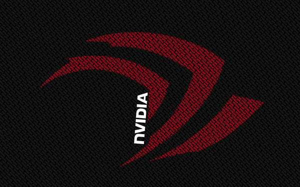 Обои Nvidia, red, white, black, letters