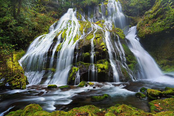 Обои камни, Oregon, мох, Columbia River Gorge, Орегон, Panther Creek Falls