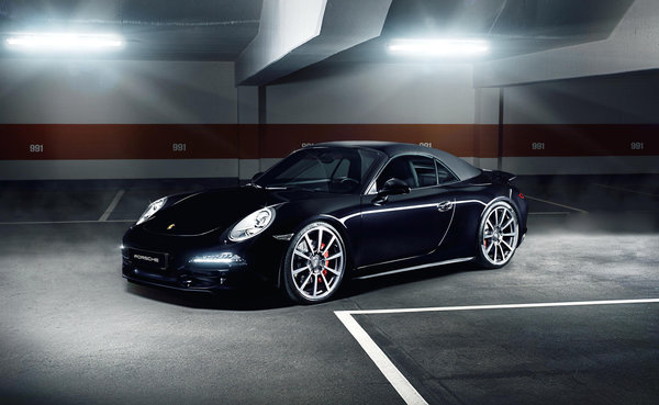 Обои Automotive, Black Car, Alpha, Porsche 991, Porsche, Carrera