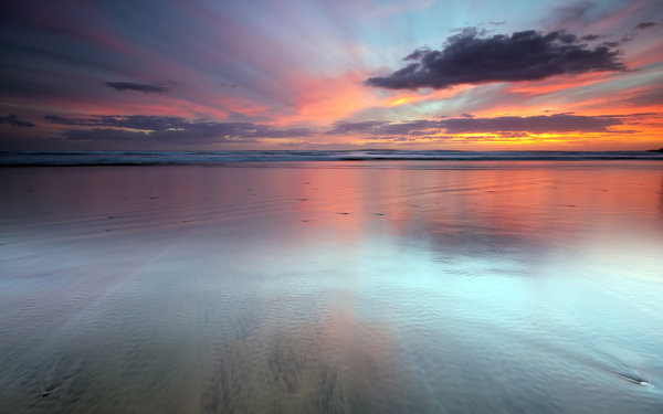 Обои новая зеландия, Last Light, облака, auckland new zealand, океан, seascape, sunset, water, закат, sky