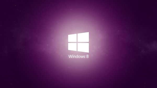 Обои minimal, purple, 8.1, windows