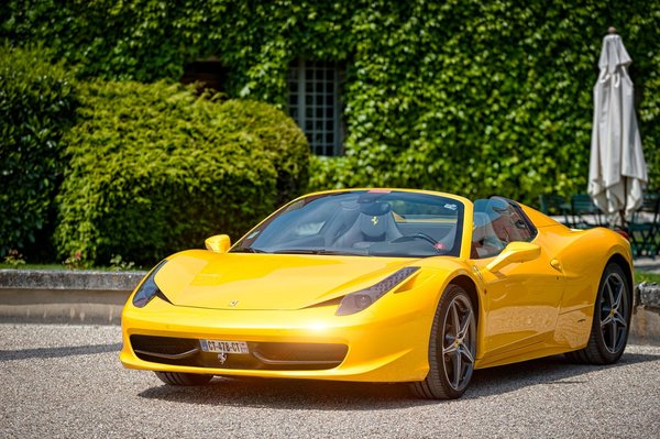 Обои Yellow, Paul Rodrigues, Castle, 458, Cabriolet, Ferrari, Spider, Supercar