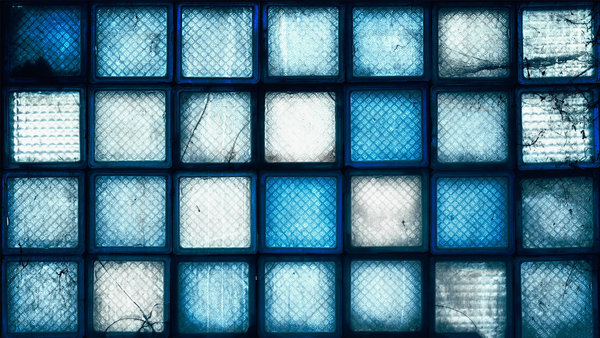 Обои glass bricks, blue, colors