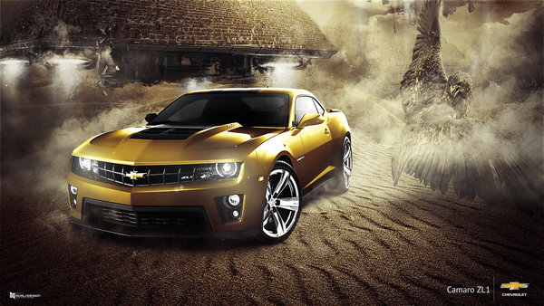 Обои Car, Eagle, Muscle, Gold, ZL1, Chevrolet, Camaro