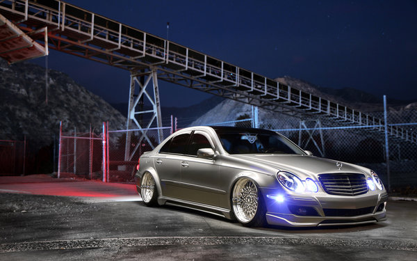 Обои tuning, Mercedes Benz, car, Stance, E350