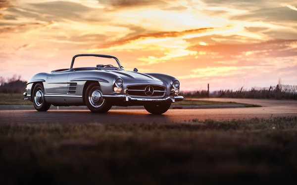 Обои mercedes 300sl, retro, car, классика