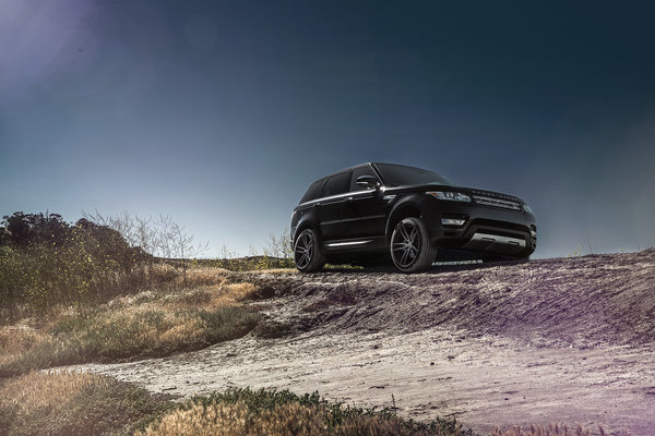 Обои Range, Collection, Forged, Front, Sport, Wheels, Land, Black, Rover, California, Aristo