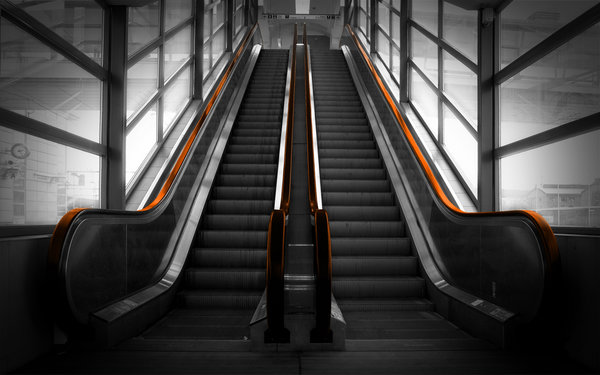 Обои Эскалатор, escalator, перила