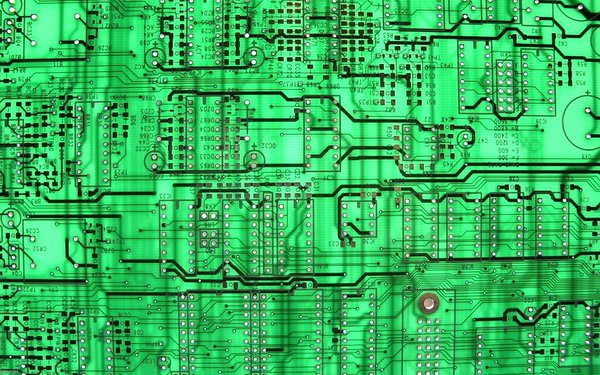 Обои green, circuit board