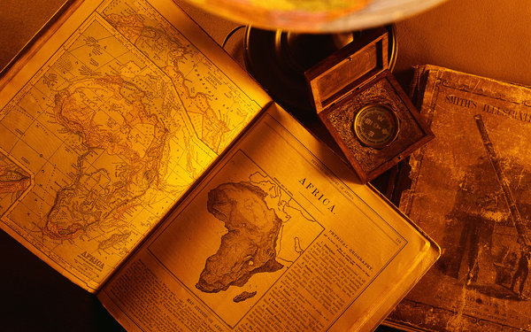 Обои old, africa continent, books, paper