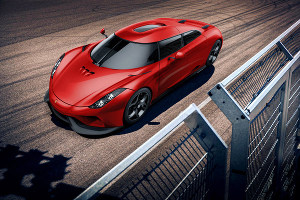 Обои Track, Front, Regera, Red, Supercar, Koenigsegg, Power