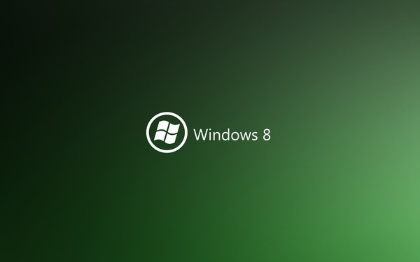 Обои windows8, green, logo, sistem
