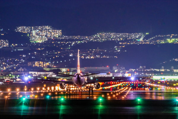 Обои NightView, Itami Airport, Airplane