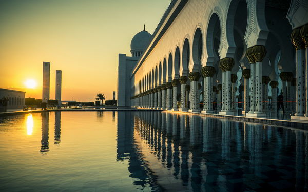 Обои Grand Mosque, Abu Dhabi, город